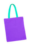 Purple cotton bag isolated Stock Photography