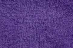 Purple cotton towel texture Royalty Free Stock Photos