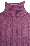 Purple Cotton Turtleneck Stock Photos