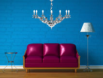 Purple couch Royalty Free Stock Images