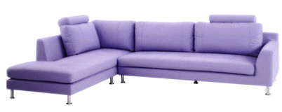 Purple couch Stock Photography
