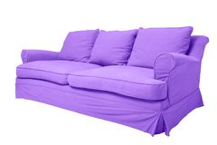 Purple couch Royalty Free Stock Photography