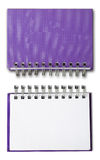 Purple cover Note Book Stock Images