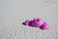 Purple Crab Sand Toy Royalty Free Stock Photos