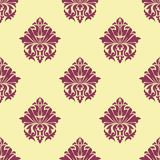 Purple and cream arabesque seamless pattern Stock Photos
