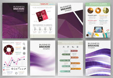 Purple creative backgrounds and abstract concept infographics Royalty Free Stock Photos