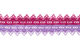 Purple and crimson satin lace. Stock Photo