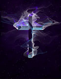 Purple Cross Royalty Free Stock Photo
