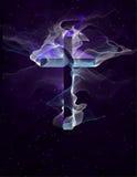 Purple Cross Royalty Free Stock Photo