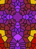 Purple Cross Mosaic Stock Photo