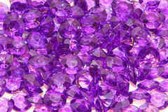 Purple crystal Stock Images
