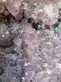 Purple crystal. Rock Royalty Free Stock Photo