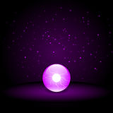 Purple Crystal Ball Stock Photo