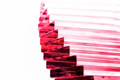 Purple Crystal stairway royalty free stock photography