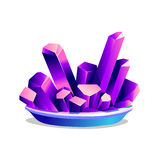 Purple crystals of chromium-potassium alum Royalty Free Stock Images