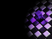Purple cube above many cubes Royalty Free Stock Photos
