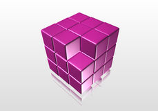Purple cube Royalty Free Stock Images