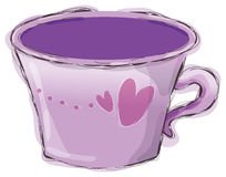 Purple cup Royalty Free Stock Photos