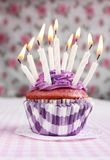 Purple cupcake Royalty Free Stock Images