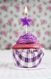 Purple cupcake Royalty Free Stock Photos