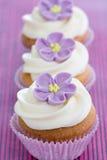 Purple cupcakes Royalty Free Stock Image