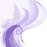 Purple curls Royalty Free Stock Images