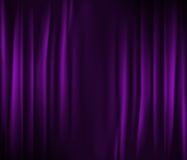 Purple curtain Stock Photography