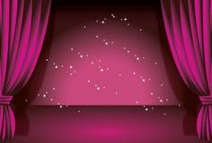 Purple curtain stock photo