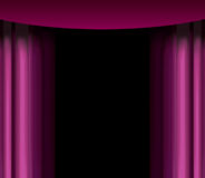 Purple curtain Royalty Free Stock Photos