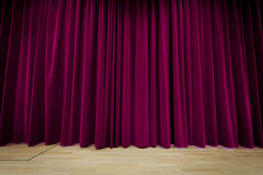 Purple Curtain Background Stock Image