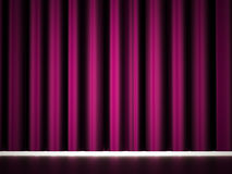 Purple curtain Royalty Free Stock Photography