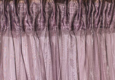 Purple curtain Stock Image