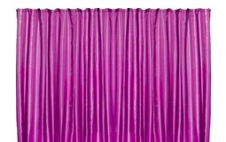 Purple curtain isolated stock images