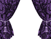 Purple curtain isolated on white background Stock Photo