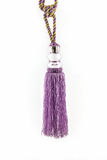 Purple curtain tassel interior decoration . Royalty Free Stock Image