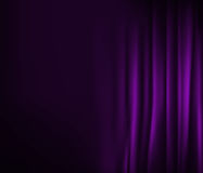 Purple curtain texture Stock Photography