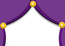 Purple curtains with balls Royalty Free Stock Photo
