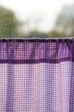Purple curtains Stock Photo