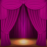 Purple curtains Stock Photography