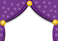 Purple curtains with stars Royalty Free Stock Photo
