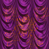 Purple curtains Stock Photos