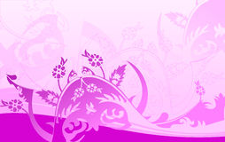 Purple Curves Background. Vector Illustration Royalty Free Stock Photo