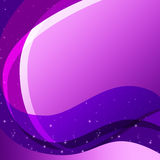 Purple Curves Background Means Swirly Lines And Sparkles Royalty Free Stock Image