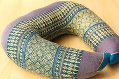 Purple cushions Stock Photos