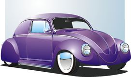 Purple Custom Car Stock Image