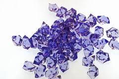 Purple Cut Glass Pieces Royalty Free Stock Photos