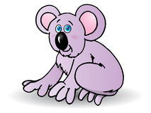 Purple cute koala cartoon Royalty Free Stock Photos