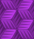 Purple 3d cubes striped with triangles seamless pattern Stock Photos