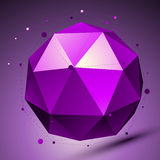 Purple 3D modern stylish abstract background, origami futuristic Stock Photo