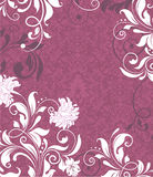 Purple damask invitation card Royalty Free Stock Photography